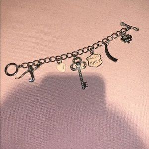 Juicy couture silver pink charm bracelet